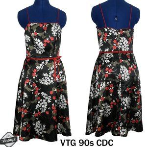 Rampage CDC Japanese Floral Print Strap Dress 6